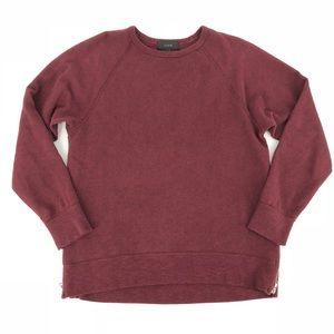 J Crew maroon Crewneck sweatshirt